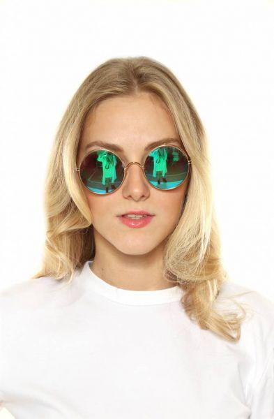 Spiegelbrille rund