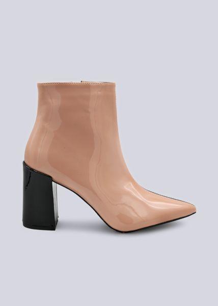 Zwei-farbige Stiefeletten, schwarz/rosa