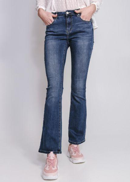 Flare Jeans, dunkelblau