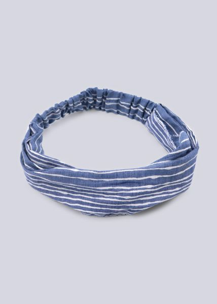 Haarband in Streifen-Print, blau