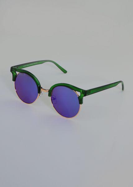 Spiegelbrille, grün