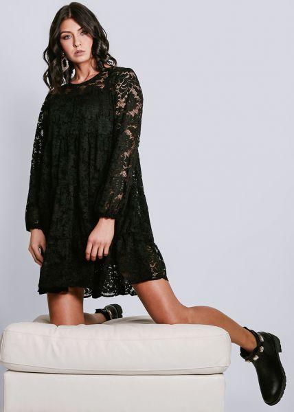 Hängerchenkleid aus Spitze, schwarz