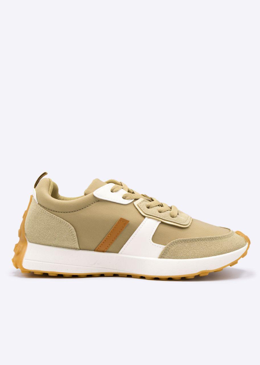 Plateau-Sneaker mit Noppen-Sohle, camel