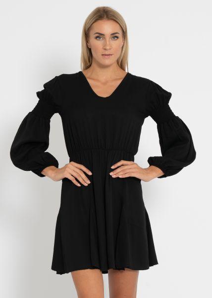 Kleid mit schwingendem Rock, schwarz