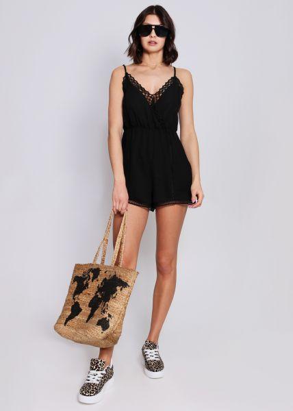 6048631380b79f Jumpsuit mit Spitze, schwarz | Shorts | Hosen | Bekleidung | SALE ...