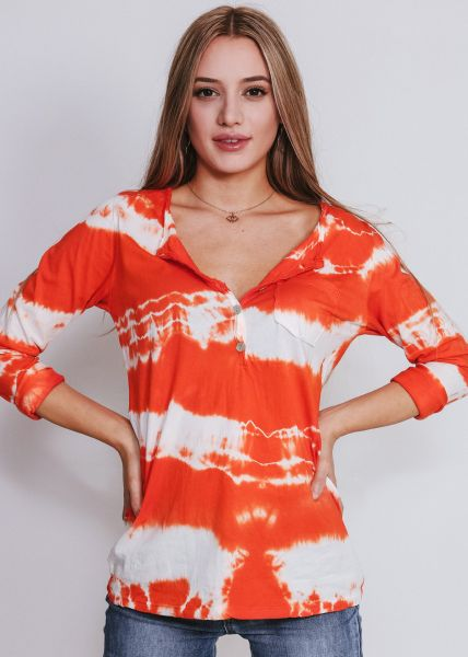Batik-Shirt, orange