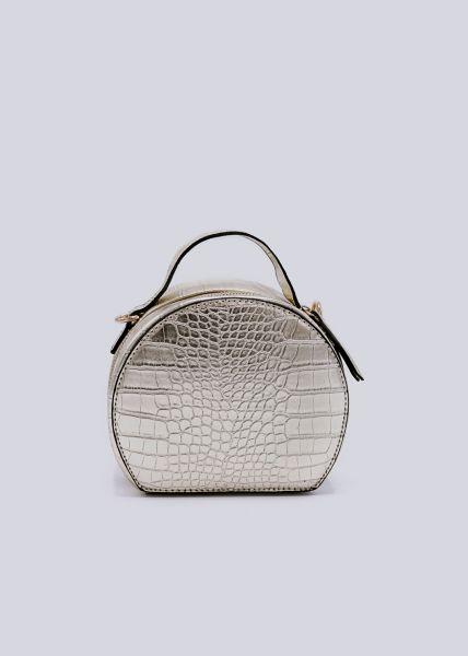 Box-Bag in Kroko, gold