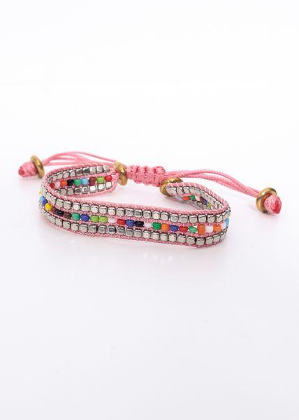 Perlenarmband, pink