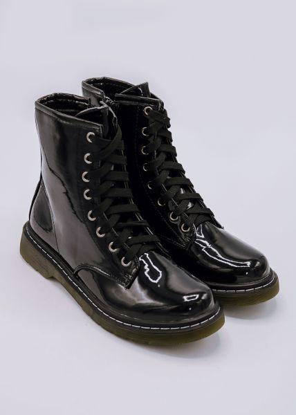 Lack-Boots, schwarz