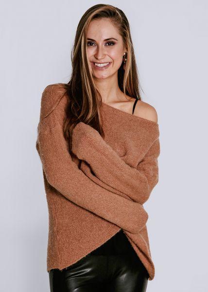 Oversize Pullover, camel