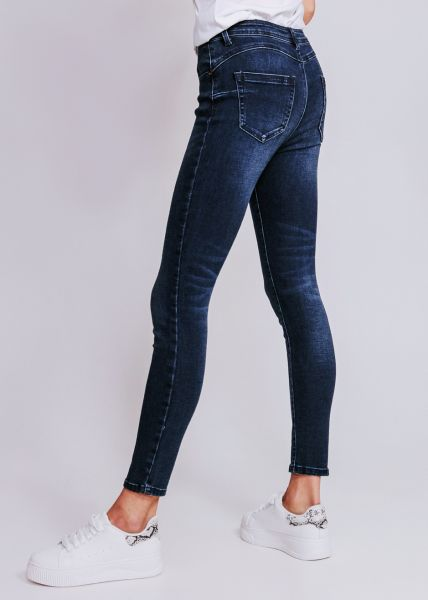 Push Up Jeans in dunkler Waschung