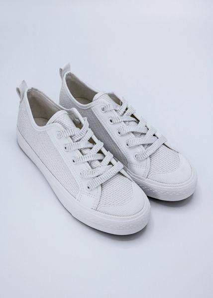 Sneaker mit leichtem Glitzer, weiß