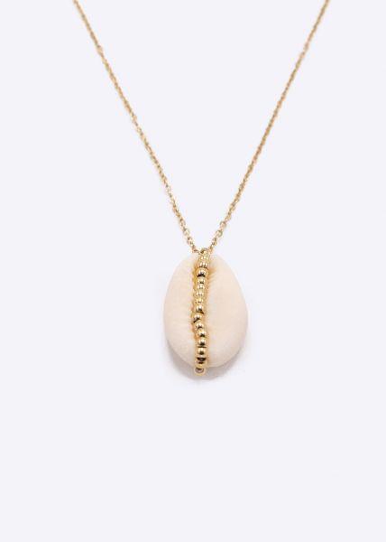 Halskette mit Muschel, gold
