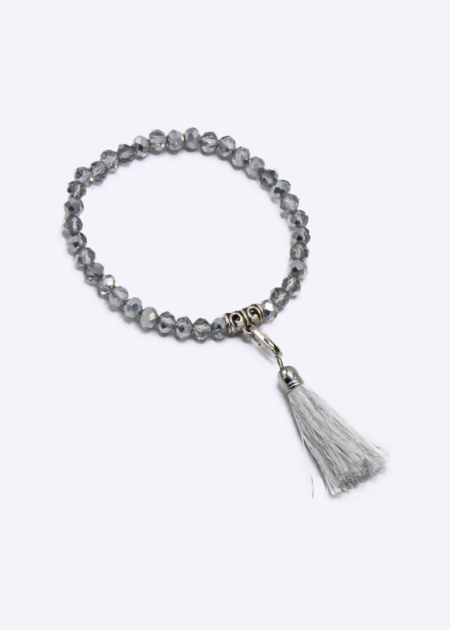 Perlenarmband, silber