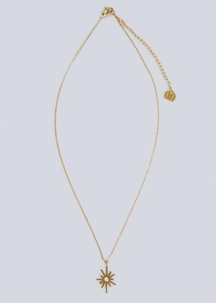 Halskette mit Sonnenmotiv, gold
