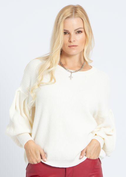 Pullover mit weitem Arm, offwhite