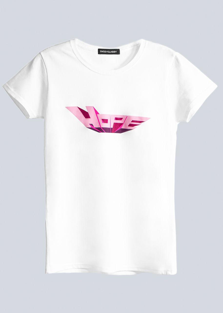 """T-Shirt """"HOPE"""", weiß"""