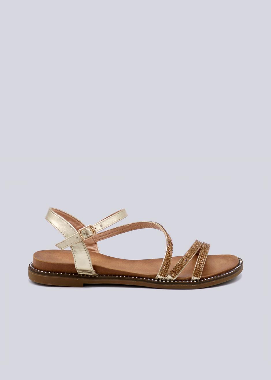 sandalen mit glitzersteinchen gold sandalen schuhe sassyclassy