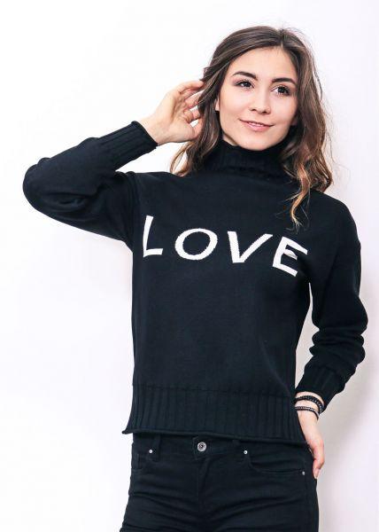 """""""LOVE"""" Pullover, schwarz"""