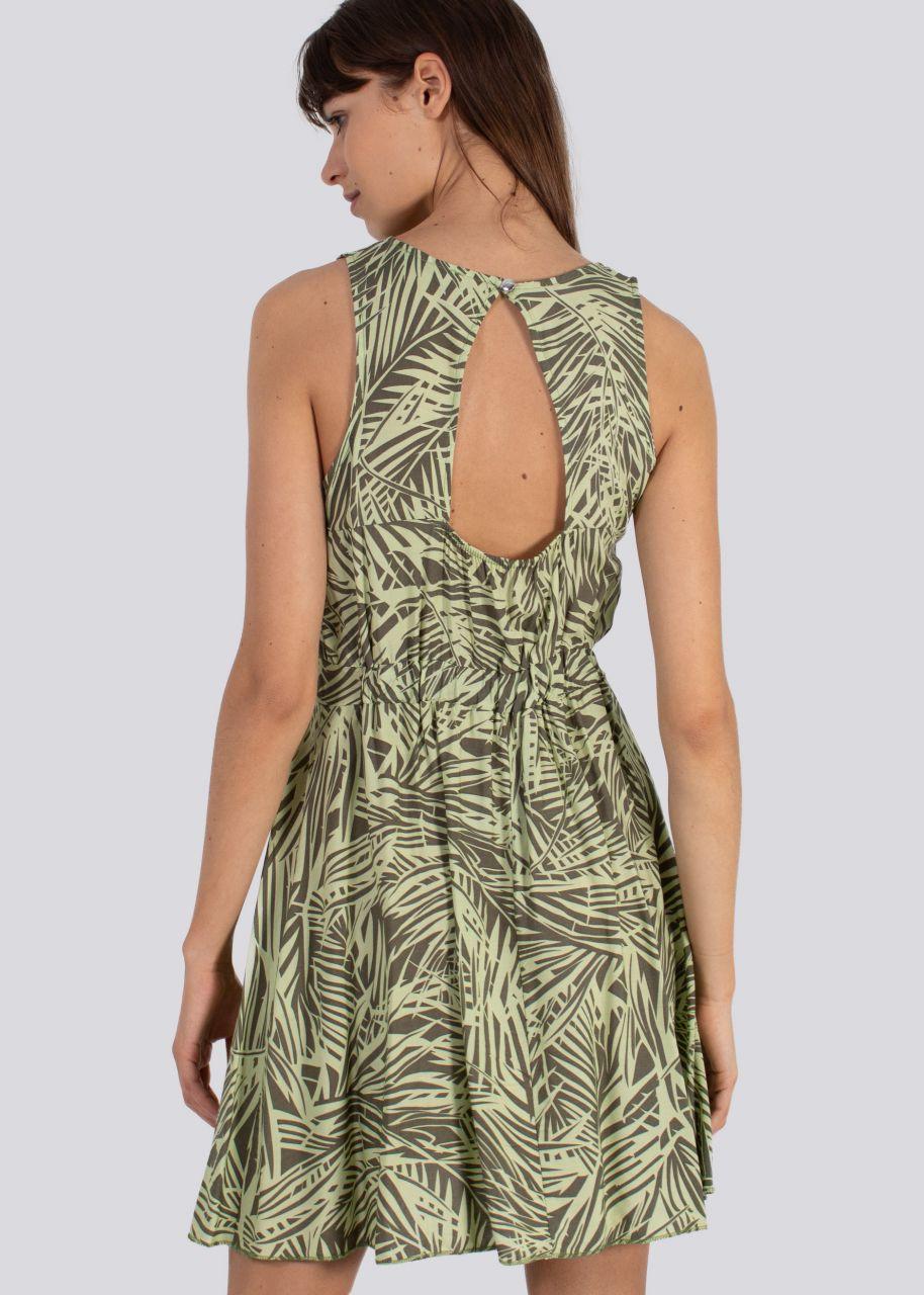 Kleid mit Cut-Out, grün