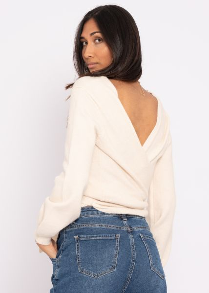 Wickel-Pullover, offwhite