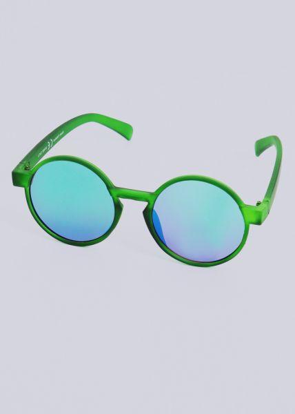Runde Sonnenbrille, grün