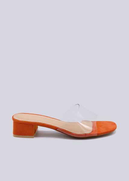 Pantoletten mit Durchblick, orange