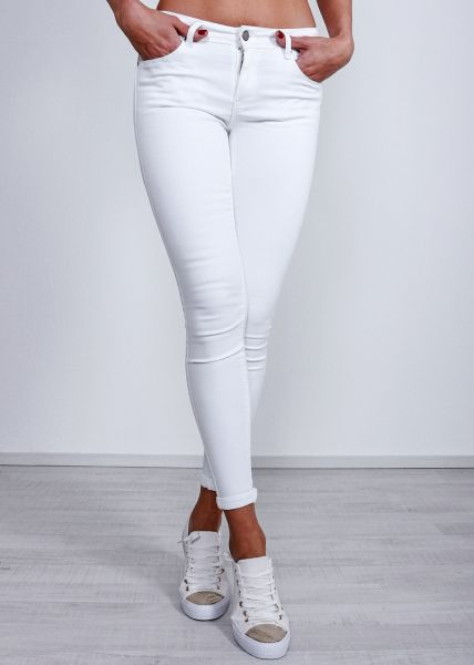 Push Up Jeans, weiß