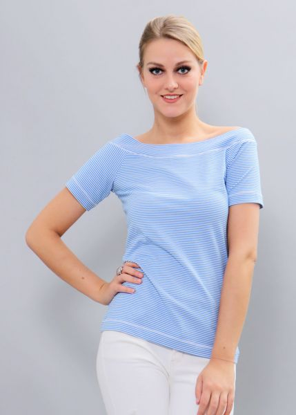 Streifen-Shirt, hellblau