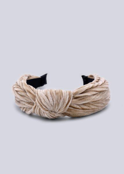 Haarreif mit Knoten, beige