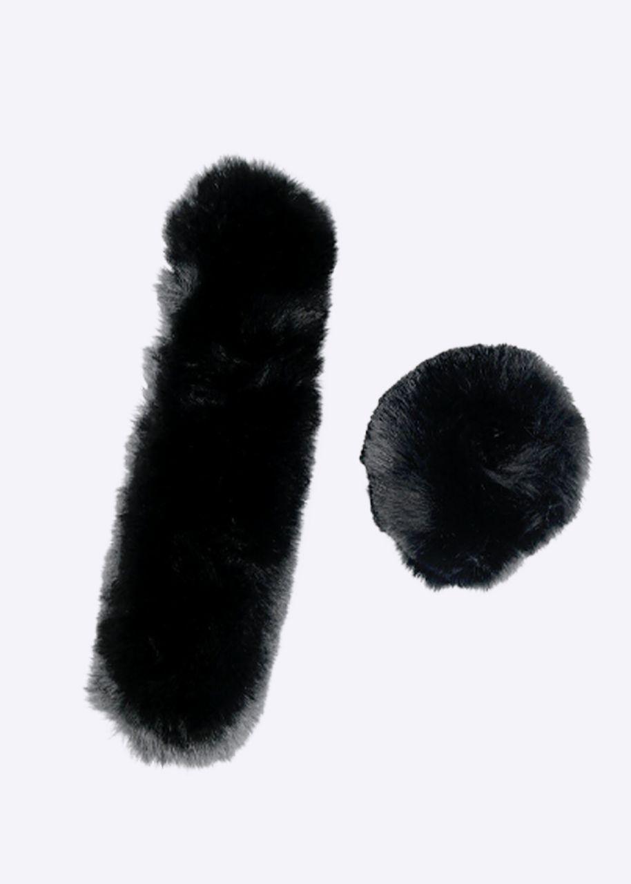 Fell-Manschetten, schwarz