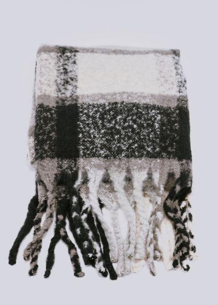 Karo-Schal, schwarz/weiß/grau