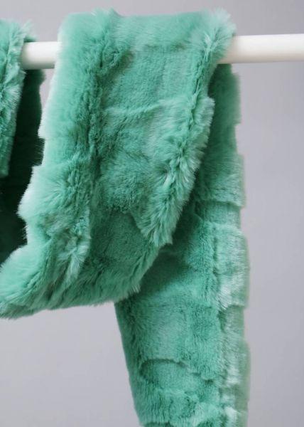 FAKE-FUR Schal, grün