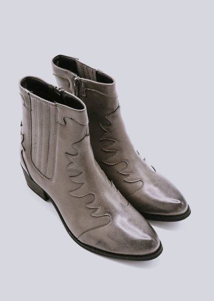 Western-Boots, grau