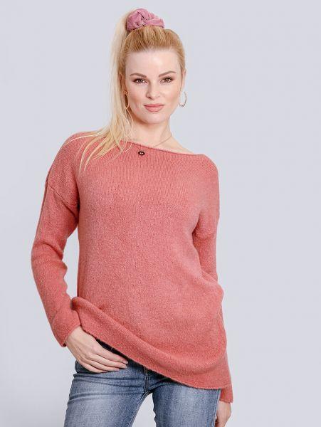 Oversize Pullover, lachsrosa