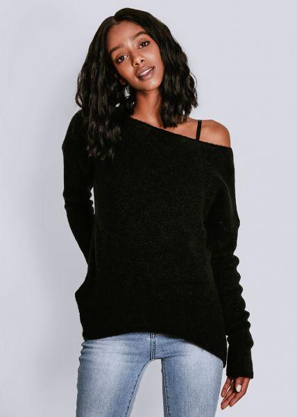 Oversize Pullover, schwarz