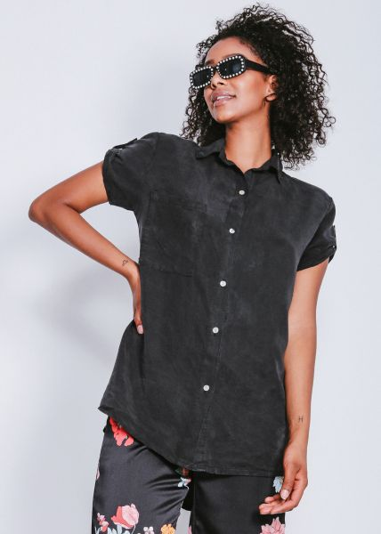 Lässige Bluse, schwarz