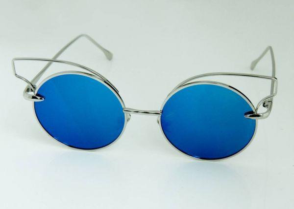 Cateye Sonnenbrille, blau