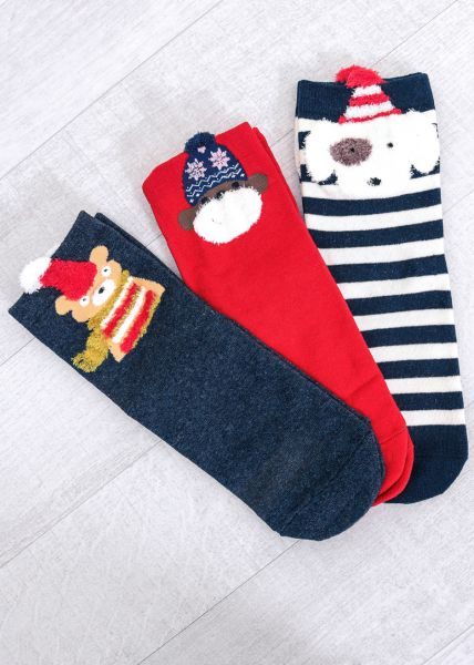 3er Set Wintersocken
