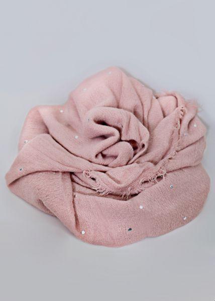 Schal mit Nieten, rosa