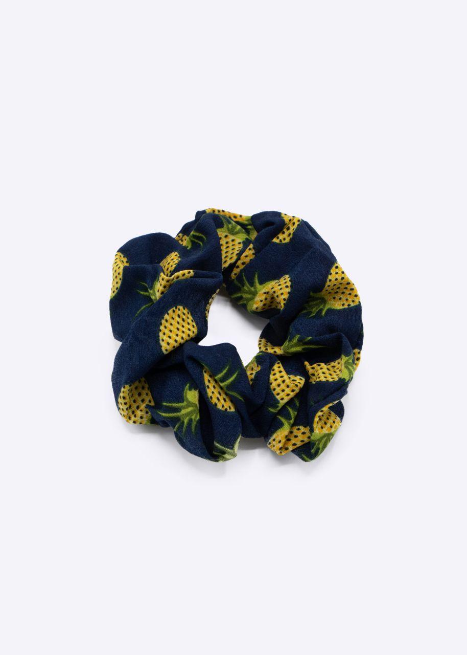 Scrunchie mit Ananas-Print, blau