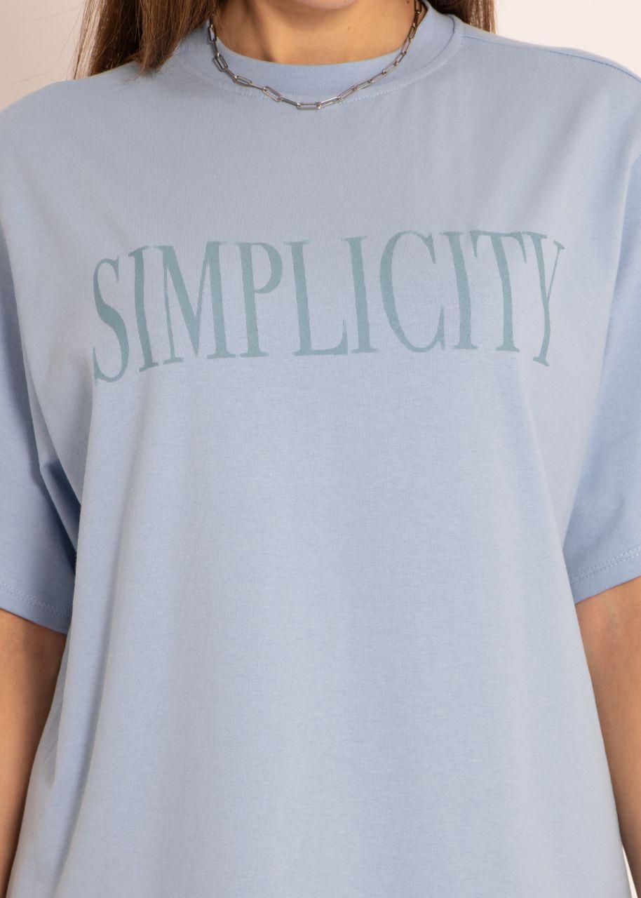 T-Shirt SIMPLICITY, blau