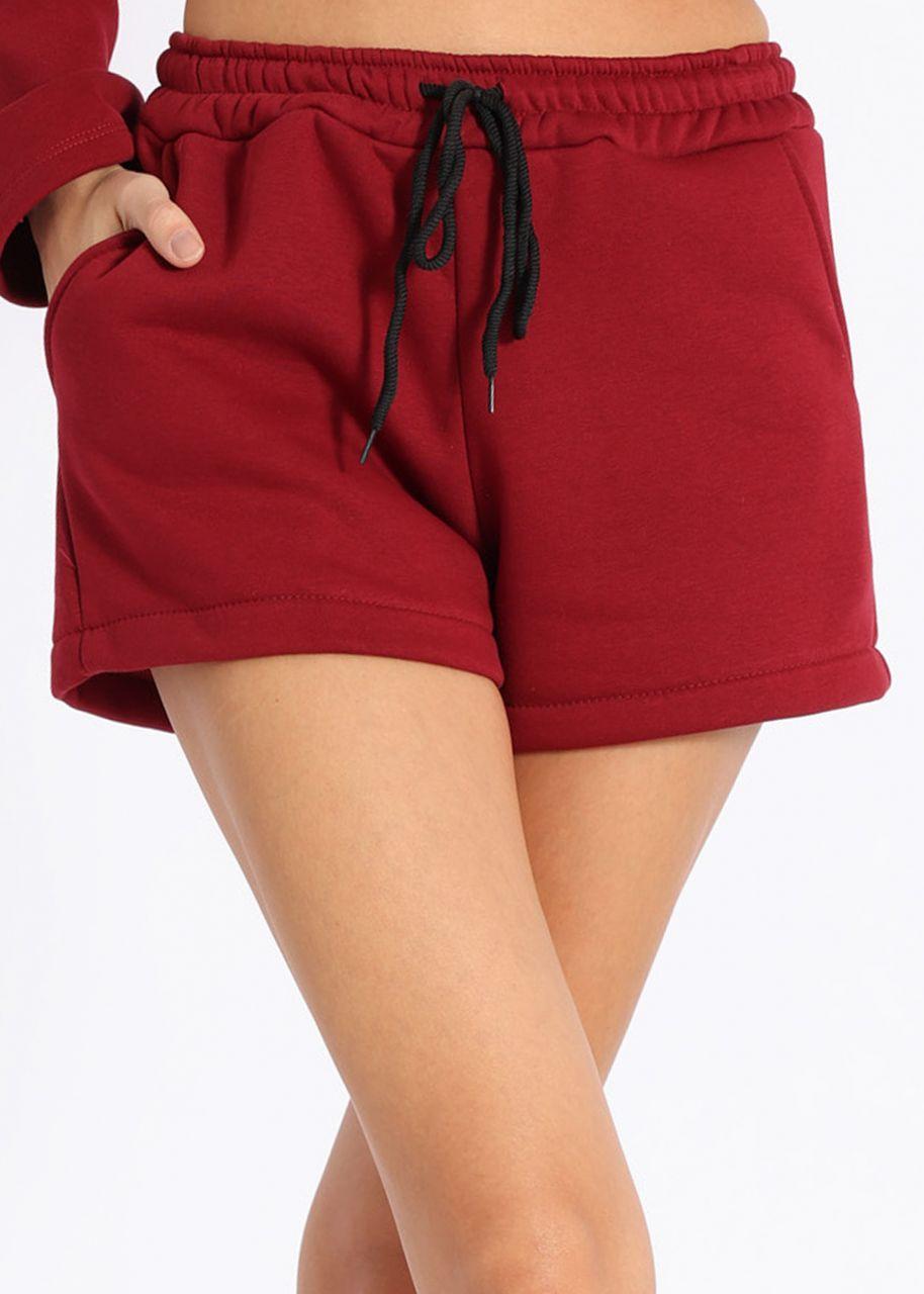 Cosy Lounge-Shorts, weinrot