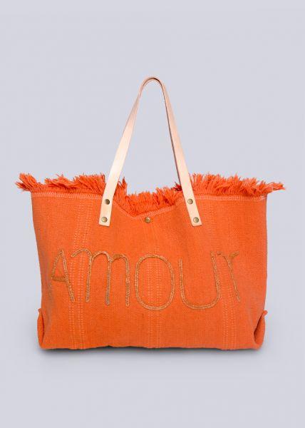 Shopper Amour, orange