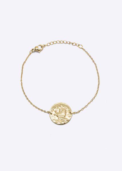 Armkette mit Sternzeichen Löwe, gold