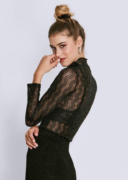 Netz-Shirt, schwarz