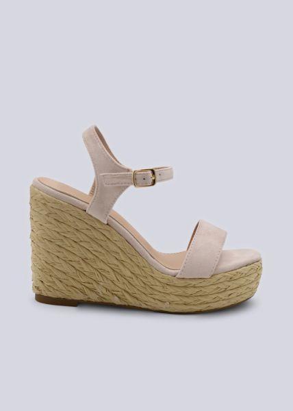 Sandalette mit Keilabsatz,hellrosa
