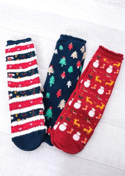 3er Set Weihnachtssocken