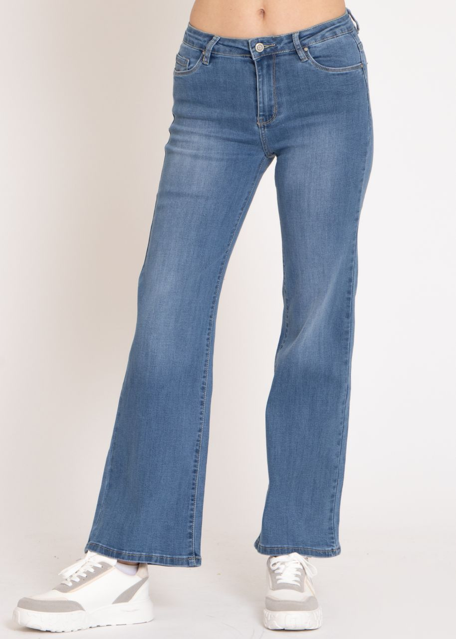 Flared Jeans, blau
