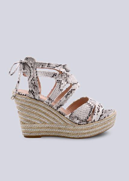 Sandaletten mit Keilabsatz, grau